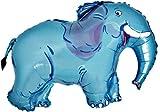 Set de 3 éléphants bleus en forme de ballon de papier d'aluminium (CS117)