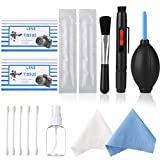 EMIUP Photo Professional 15-in-1 Camera Cleaning Kit for DSLR Cameras and Sensitive Electronics (Canon, Nikon, Pentax, Sony) with APS-C Sensor Cleaning Swabs