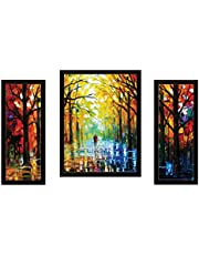 SAF Watercolor Set of 3 Modern Art 9201 Painting