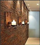 MMYNL Moderne E27 Antik Wandlampe Vintage Wandlampen Wandleuchten für Schlafzimmer Wohnzimmer Bar Flur Bad Küche Balkon Loft-industrielle Wind-Bett-Scheinwerfer kreatives Boots-Holz Wandleuchte
