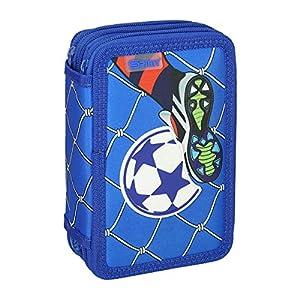 Spirit Estuche Escolar 3D Fußball Goal, 3 Cremallera