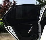 Autofenster Sonnenschutz (2 Stück) - Universelle Auto, Faltbares Meshmaterial Sonnenblende Geeignet für Autos, SUVs, Lastwagen & Minivans von ieGeek– schützt Mitfahrer, Baby, Kinder & Haustiere vor 98% der UV-Strahlen