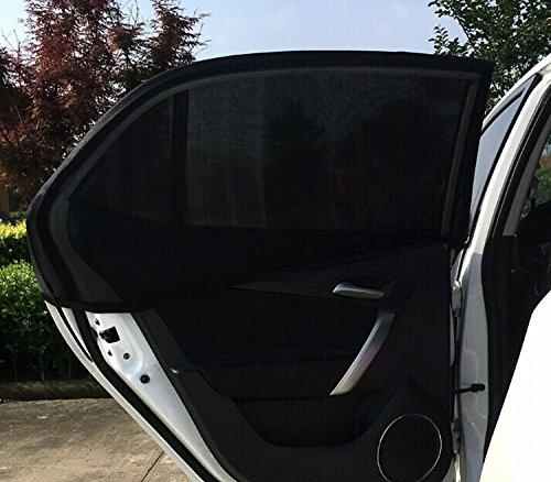 Preisvergleich Produktbild Autofenster Sonnenschutz (2 Stück) - Universelle Auto, Faltbares Meshmaterial Sonnenblende Geeignet für Autos, SUVs, Lastwagen & Minivans von ieGeek– schützt Mitfahrer, Baby, Kinder & Haustiere vor 98% der UV-Strahlen