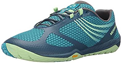 Merrell Pace Glove 3, Women's Lace-Up Trail Running - Blue (Turquoise), 3.5 UK