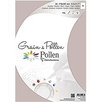 Clairefontaine 40233C - Un sachet 5 feuilles Grain de Pollen 21x29,7 cm 120g, Amphore