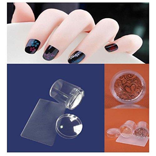 Vovotrade Big Clear Nail Art Stamping Stamper Scraper Plate Image Manucure Imprimer Outil bricolage
