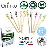 Oriculi en Bambou 10x avec E-Book - Cure Oreille Écologique et Réutilisable pour Remplacement Coton Tige - Zéro Déchet - Pack Familial