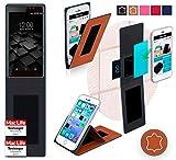 reboon Hülle für UMi Fair Tasche Cover Case Bumper | Braun Leder | Testsieger