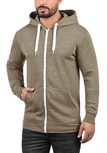 !Solid Olli Ziphood Herren Sweatjacke Kapuzenjacke Hoodie mit Kapuze Reißverschluss und Fleece-Innenseite, Größe:L, Farbe:Sand Melange (8409) - 2