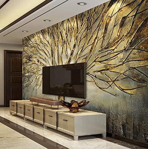 Muraon 3 d Wallpaper for Walls Waldtiere tapete Wohnzimmer Schlafzimmer wandgemälde 2019 Neue heimwerkerarbeit, 200x140 cm (78,7 x 55,1 in)