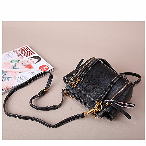 Singles in pelle borsa a tracolla/semplice centinaia di giro-bag,Rosa Nero