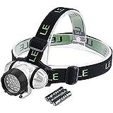 LE Superheller LED Stirnlampe, LED Kopflampe, 18 Weiße LED und 2 Rote LED, 4 Helligkeiten zu wahlen, LED Stirnlampen, LED Kopflampen, Kopfleuchten