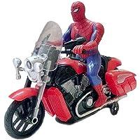 abhik enterprises bump and go spiderman bike toy , battery operated light sound bike, avenger spider man musical…