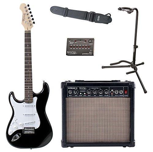 Rocktile Pro ST3-BK Linkshänder (Lefty) E-Gitarren Set