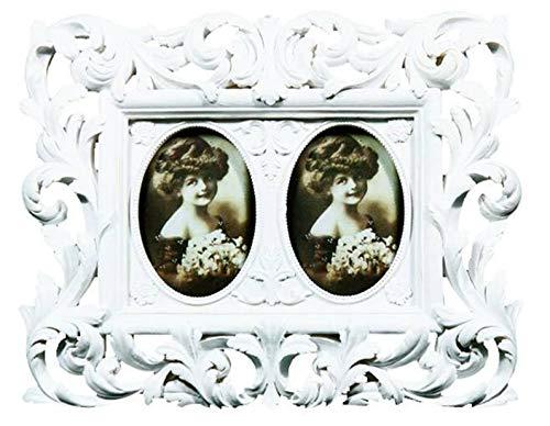 Marco de fotos 2 barroco blanco envejecido Color de fotos Rosali shabby