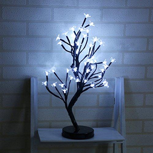 LEDMOMO Lichter baum LED Kirschblüten Schreibtisch Kirschbaum Lichterbaum Weihnachtsbeleuchtung Hochzeit Party Deko (Kaltes Weiß)