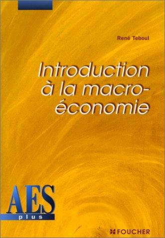 Introduction à la macro-économie, DEUG AES
