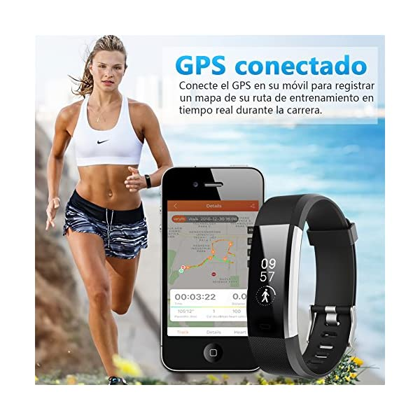 BANLVS Pulsera Actividad, Pulsera Inteligente con 14 Modos de Deporte, GPS Pulsómetro Monitor de Ritmo Cardíaco Sueño… 5