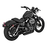 Vance & Hines ShortShots - Pots d'échappement noirs - Pour Harley Davidson Sportster XL, Superlow XL883L, Sportster 883R, Iron 883 XL883N, Forty-Eight XL1200X