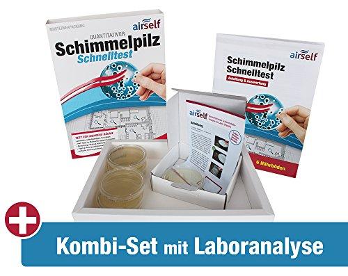 """Schimmel Test Kombipaket""""Passiv"""" – Schnelltest plus Schimmeltest im Labor für bis zu 6 Räume"""