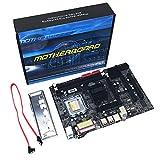 Heraihe Motherboard, Intel P45 LGA 771 Integrierte 6-Kanal-Audio-Chip 8GB Doppel DDR2 DIMM Integrierte Grafikkarte Mainboard, für Desktop-Computer