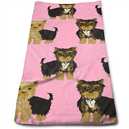 Suehome Handtücher,Geschirrtücher, Yorkshire Terrier Cute Dog Pet Cool Towel Küchenhandtuch Instant Cool Ice Towel Gym Quick Dry Towel Microfibre Towel Cooling Sports Towel -