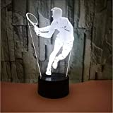 Fushoulu 3D Visual Tennis Player Led-Nachtlicht 7 Farbe Home Table Party Bar Decor Lampe Jungen Mann Kinder Favor Beste Geschenke