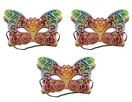 ück Kostüm Masken, multicolor (Multi Color Maske)