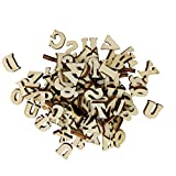 F Fityle 100er Pack Kleine Buchstaben aus Holz Dekobuchstaben Hölzerne Alphabet Holzbuchstaben zum Basteln Bemalen dekorieren verzieren