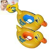 BulzEU 1 Stück Baby PVC Schwimmring Schwimmring für Kinder, niedliches Ente Design aufblasbar Kinder Kreis Schwimmbad für Babys, Farbe Blau