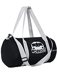 "SALUTE ""HUNK WORKOUT 25 Ltrs Black Duffel Gym Bag Backpack"
