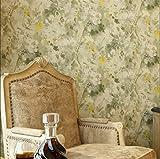 LVLUOYE neuer chinesische retro Nachahmung Tinte Persönlichkeit Ölgemälde Vliesstoff Blumenmuster Schlafzimmer TV dekorativer Hintergrund 10 * 0.53 (M)