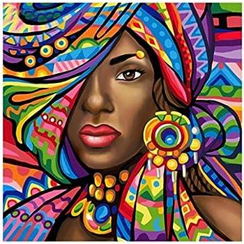 Millenniums 5D Bricolage Diamant Peinture Abstraite Femme Africaine  Peinture Murale Peinture Kits DIY Décoration Chambre Artisanat Décor à la  Maison ...