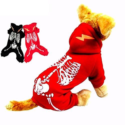 Tie langxian Halloween, Christmas Pet Clothes,Pet Clothes Luminous Dinosaur,Pet Dogs Clothes (XL, Red)