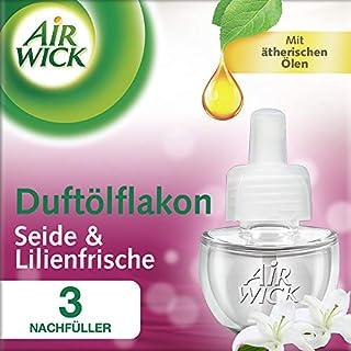 Airwick Duftölflakon Nachfüller, Seide & Lilienfrische, 3er Pack (3 x 19 ml)
