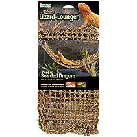 Penn-Plax Lagarto tumbona, 100% fibras de junco marino natural para Anoles, Bearded Dragons, Geckos, iguanas, y ermitaño Crabs rectangular 7x 29cm