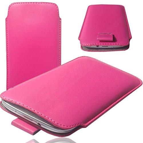 MOELECTRONIX MX PINK Slim Cover Case Schutz Hülle Pull UP Etui Smartphone Tasche für Siswoo R9 Darkmoon