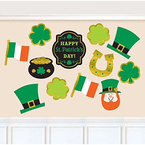 amscan 190565St. Patrick 's Day Value Pack Ausschnitte (Party St Patrick S Day)