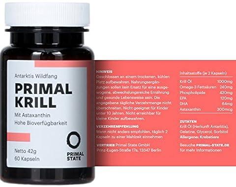 PRIMAL KRILL Öl | Omega 3 Kapseln mit EPA, DHA