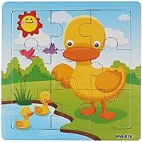 Koly® Niños de Madera 9 Piece Jigsaw Juguetes para la Educación Infantil y Aprendizaje Puzzles Juguetes (C)