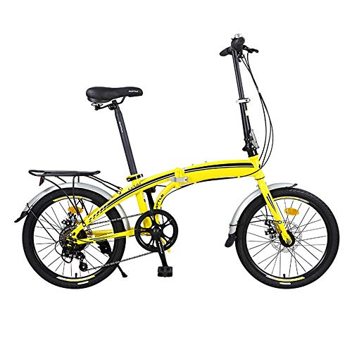 XMIMI Klapprad Mini Leichte 7-Gang Variable Erwachsene Männer Und Frauen Casual Student Fahrrad 20 Zoll