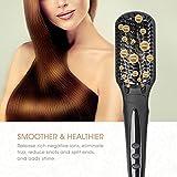 Gopani Fast Hair Straightener Brush With Temperature (Multicolor)