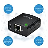 WAVLINK 78M41 Netzwerk Druckserver USB 2.0 Ethernet Print Server Adapter LPR 1-Port MFT Druck Mit 10/100Mbps LAN Ethernet Port Teilen Sie einen Standard USB Drucker mit mehreren Benutzern