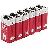 ANSMANN Batterie speziell für Rauchmelder Feuermelder Brandmelder CO-Melder Longlife Alkaline 9V E-Block (6er Pack) 6LR61 6AM6 MN1604 Rauchmelderbatterie 7 Jahre Lebensdauer