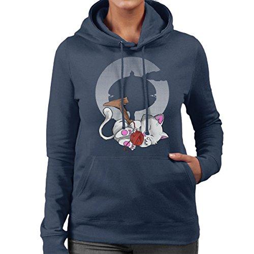 Korin Tower Dragon Ball Z Ball Of Wool Women's Hooded Sweatshirt Navy blue