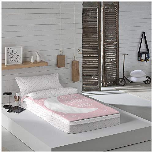 COTTON ARTean Saco nordico SIN Relleno Moon Pink Cama