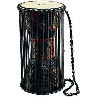 Meinl Percussion ATD-L African Talking Drum (Large), 20,32 cm (8 Zoll) Durchmesser, brown/black