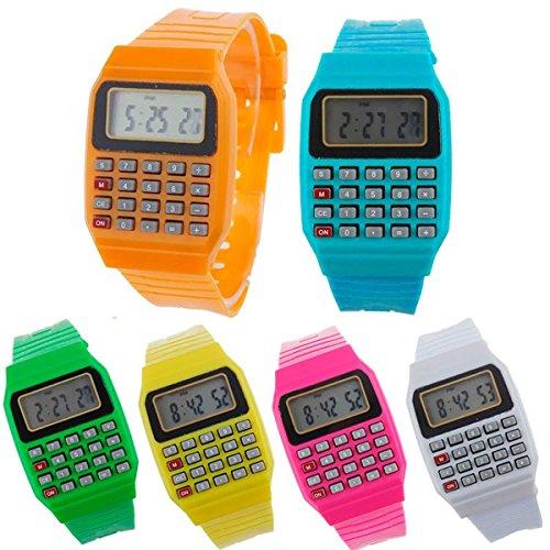 DISOK - Reloj Calculadora (Precio Unitario) - Relojes Infantiles, Niños. Regalos, Recuerdos y Detalles para Cumpleaños, Comuniones Baratos, Originales Y Prácticos para Niños