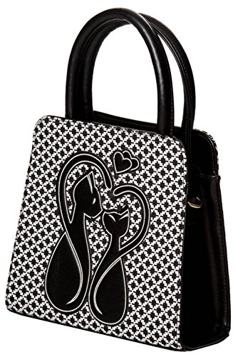 Dancing Days, Borsa a mano donna Nero/Bianco