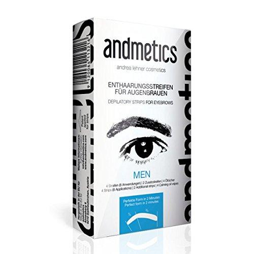 Andmetics Enthaarungsstreifen für Augenbrauen Men